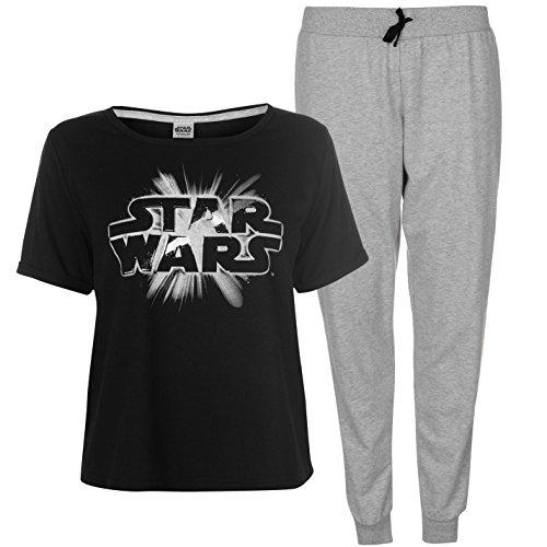 Star Wars by Disney -  Pigiama due pezzi  - Donna Black/Grey