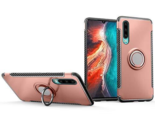 Brand Set Funda Xiaomi Mi 9 SE,La combinación PC y TPU Proporciona Doble protección,Estuche Protector de Soporte Giratorio de 360 Grados Adecuado para Xiaomi Mi 9 SE-Oro Rosa