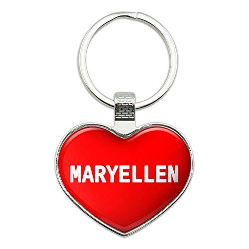 Image of Metal Keychain Key Chain Ring I Love Heart Names Female M Mari - Maryellen