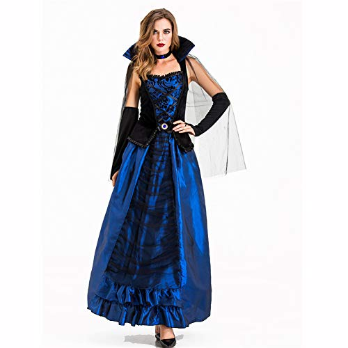 People-COS1 Erwachsene gebannt Hexe Vampir böse Königin Kostüm Halloween Club Thema Party Horror Damen (Hexe Themen Kostüm)
