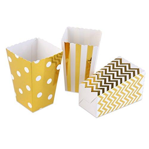 ROSENICE Popcorn Tüte Popcorn Boxen Miniatur Wellenschliff Karton Party Candy Container 50 Stück (Kino-stil Popcorn Wanne)
