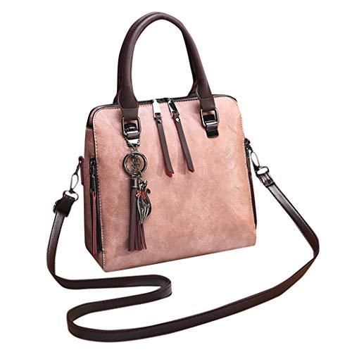 Floweworld Damenmode Umhängetasche Einfache Reine Farbe Handtasche Quaste Zubehör Crossbody Messenger Bags