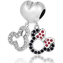 Mickey y Minnie Mouse Doble Colgante
