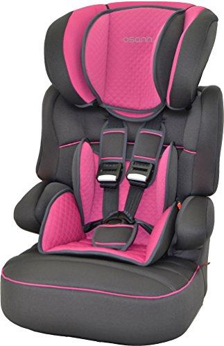 Osann Kinderautositz Kindersitz Colorado Quilt Framboise  ECE Gruppe 1 / 2 / 3  von 9 bis 36 kg