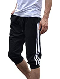 Juleya Männer Sport Sweat Hosen Shorts 3 4 Jogginghose Gym Cotton Casual  Hosen M- dd310ccc9d