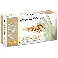 Reflexx L550/XS guantes desechables látex W/harina de avena coloidal (Pack de 100)