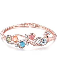Jewels Galaxy Exclusive Luxuria Collection Copper Charm Bracelet for Women (Multi-Colour)(BNG-3115)