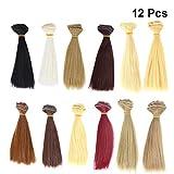 SUPVOX Parrucche diritte della parrucca delle parrucche diritte delle estensioni dei capelli di trama dei capelli di 12pcs 100x15cm