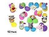Sticker Superb 12 Paquetes Llenar Huevo de Pascua con 12 Mini Animales...