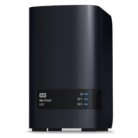 Western Digital 8TB My Cloud EX2 NAS Festplatte - LAN - WDBVKW0080JCH-EESN