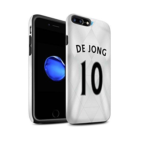 Officiel Newcastle United FC Coque / Brillant Robuste Antichoc Etui pour Apple iPhone 7 Plus / Rivière Design / NUFC Maillot Extérieur 15/16 Collection De Jong