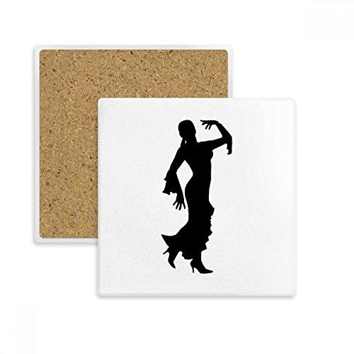 DIYthinker Volkstanz-Art Performance Tänzer Platz Coaster-Schalen-Becher-Halter Absorbent Stein für Getränke 2ST Geschenk Mehrfarbig