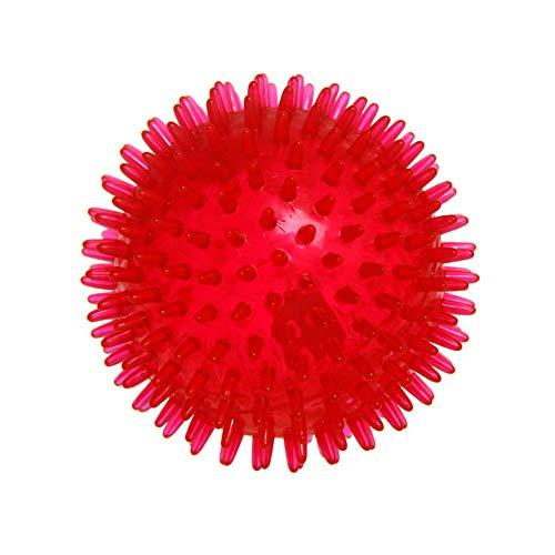 Thumbelin 1Pc Pet Squeaky Chewing Balls Welpen kauen Spielzeug weichen Stab Bälle Reinigung der Zähne Spielzeug mit hohem Bounce Pet Interactive Toy Haustier-Kugel-Spielzeug (rot) -