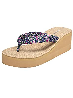 Zachho Women's Blue Thong Sandal - 3