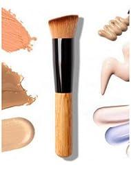 LyDia® Flat Angled Wooden Handle Blusher/Face Powder/Liquid Foundation/Face Contour Makeup Brush