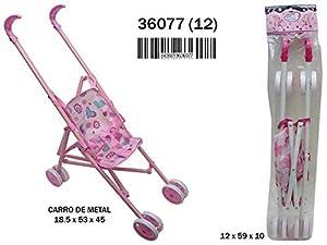 RAMA TRITTON- Silla MUÑECA DE Metal Rosa Plegable 18,5X53X45 CM, (36077)