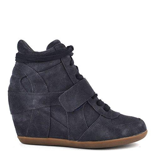 Ash Footwear Bowie Bis Midnight Suede Wedge Trainer 38EU/5UK Midnight
