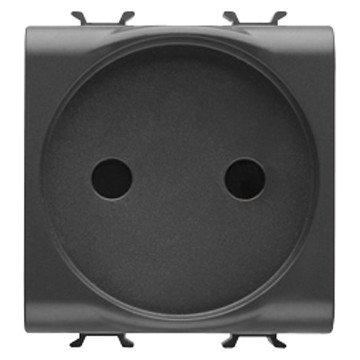 Gewiss GW12246Typ E schwarz-Steckdose (250V, 16A, 44,2mm, 39,3mm, 44mm)