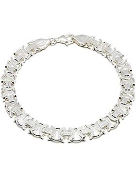 925 Silberarmband: Königsarmband flach Silber mit der Breite 8,5mm und auswählbare Länge 20cm und 22cm
