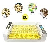 Hamkaw Incubadora Digital de Aves de Corral Incubadoras de Uso General con Control Automático de la Temperatura y el Volteo de Huevos,Incubadora de Aves para Pollos Patos Ganso Codorniz