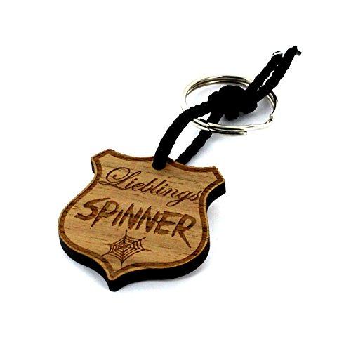 Lieblingsmensch Schlüsselanhänger aus Holz Modell: Lieblingsspinner