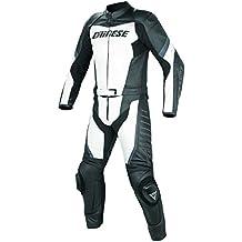 Dainese T.Racing Div. Traje para Moto, Blanco/Negro/Antracita, 52