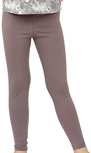 Kinder / Mädchen Thermo Winter Leggings aus Baumwolle AME (128, Beige)