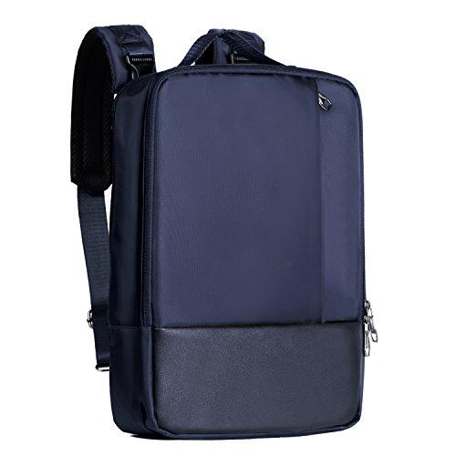EX-T Laptop backpack for Men's Nylon Fabric Business Water Resistant Shoulder Bag Handbag Messenger Bag Casual Daypack Lightweight(up to 15.6 inches ) (Blau) (Ext-tasche)