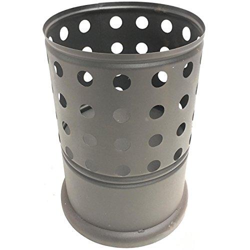Mullrose KR10012 Feuersäule Feuer-Ständer für Schwedenfeuer, Sternenfeuer, Baumfackeln, behandelter Stahl, schwarz, L26 x B26 x H40 cm