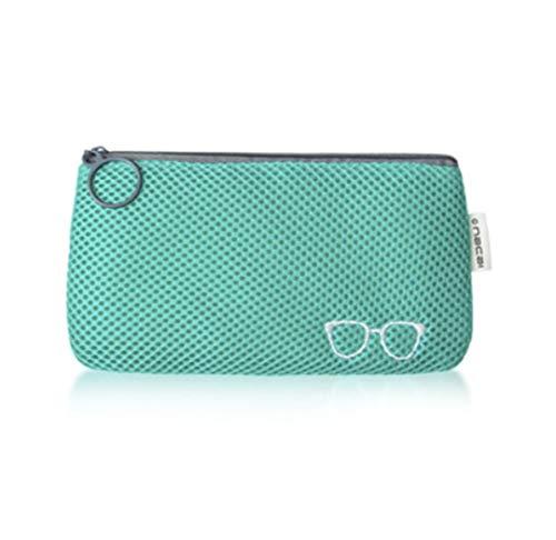 YONGJC Tragbare Reissverschluss-weiche Kosmetiktasche Geldbörse Reise-Sonnenbrillen-Tasche Aufbewahrungstasche Stoßfest Aufbewahrungstasche, Blau