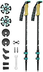 Trekking Poles, with Antishock and Quick Lock System, Lightweight Quick Lock System, for Hiking, Camping, Moun