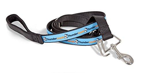 Quiko Thunderleash - Correa para Perros apaciguadora Anti-tirones, Color Negro/Azul