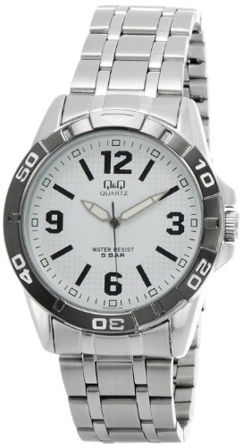 Q&Q Standard Analog White Dial Men's Watch - Q576J404Y image
