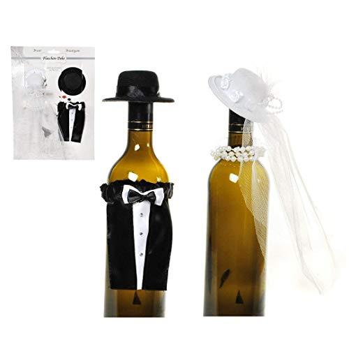 Hochzeit Flaschen Verkleidung Hochzeitsgeschenk Anzug und Brautkleid für Wein, Weinflasche
