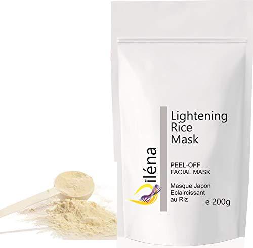 Masque Peel-Off Masque d'Alginate gelifiant en poudre 200 g professionnel et à la maison Masque Visage extracteur points noirs (Masque éclaircissant Japon)