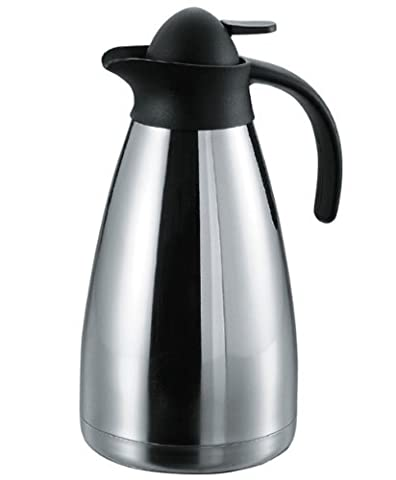 CookSpace ® 2.0 Litre 18/8 Stainless Steel, Double Wall,Push Button, Insulated Vacuum Jug, Thermal Vacuum Carafe