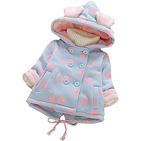 YOUJIA Bebé Niñas Chaqueta Sudadera con Capucha Manga larga Polca Punto Abrigo Hoodies