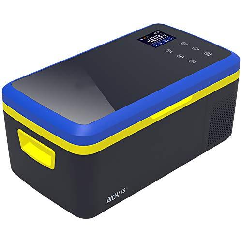PXQ Refrigerador para Autos 2 Modos Refrigerador y Calentador de Doble Voltaje 12V / 24V DC Congelador portátil para Viajes Camping-15L Máquina de Hielo de Alta Capacidad Nevera eléctrica,Blackblue