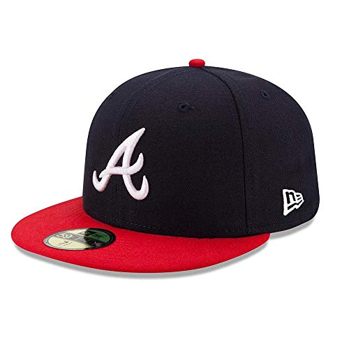 New Era - MLB Atlanta Braves Authentic Collection HM 2017 59Fifty Fitted Cap - Blau Größe 7 1/8 (56,8cm), Farbe Blau