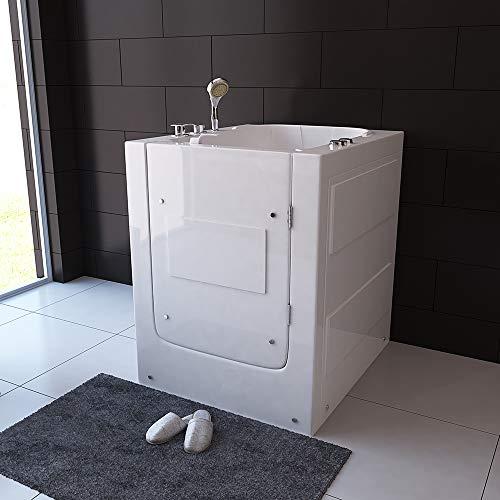 Home Deluxe – Seniorenbadewanne – Vital L – Maße: 80 x 94 x 101 cm – inkl. Whirlpool und komplettem Zubehör