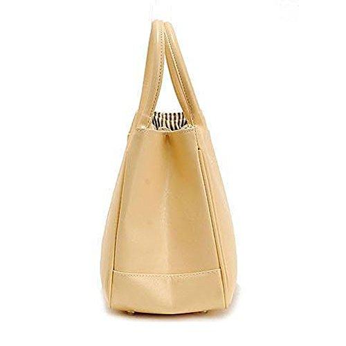 DELEY Mode Damen Einfaches Design Business Henkeltasche Handtasche Büro Umhängetasche Gelb