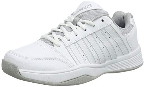 K-Swiss Performance Damen Court Smash Carpet WHT/HIGH-Rise-M Tennisschuhe, Weiß, 5.5 000070594, 39 EU