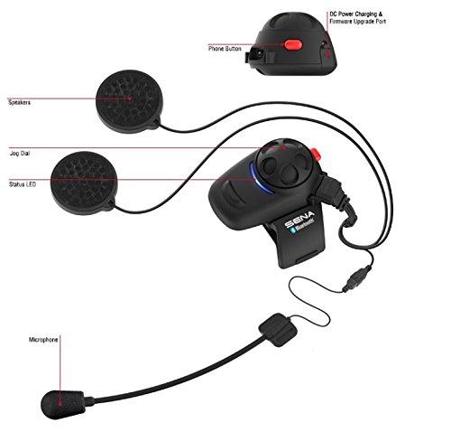Sena SMH5D-UNIV Bluetooth Headset- und Gegensprechanlage für Motorroller und Motorräder mit Universal-Mikrofonsatz, Doppelpack - 3