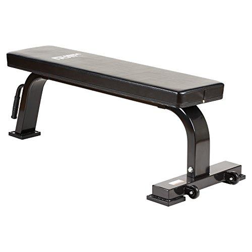 Mirafit - panca piana per sollevamento pesi - semi professionale - 400kg - nero