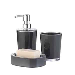 Badezimmer Set Grau – Dein Haushalts Shop