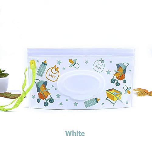 Calistouk - Dispensador de toallitas húmedas para bebé, portátil, con Embrague Recargable Reutilizable