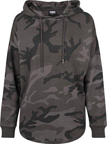 Urban Classics TB1724 Ladies Oversized Camo Hoodie - Camouflage Kapuzenpullover für Damen im angesagten Boxy Cut  - Farbe dark camo, Größe XS (Urban Camouflage)
