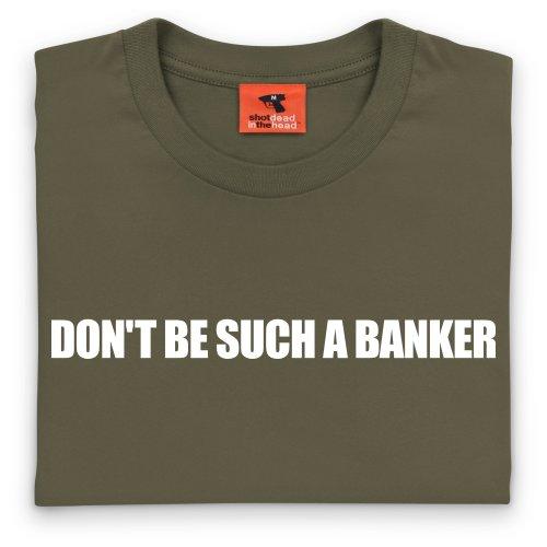 Square Mile Such a Banker T-Shirt, Herren Olivgrn