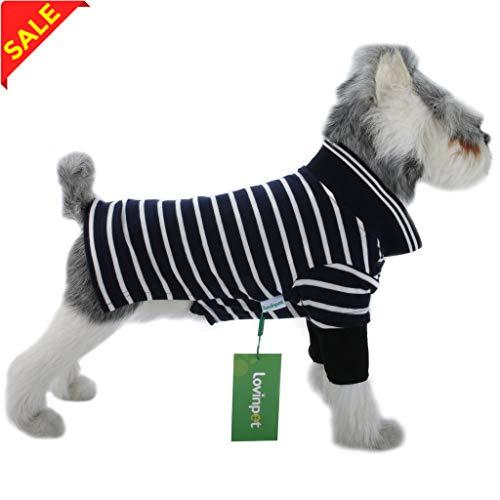 LovinPet Hund Shirts Polo Baumwolle Outdoor Hunde Kleidung Hund Kleid Shirt 4Farben (Bitte Beschreibung Lesen), A, Dunkelblau -