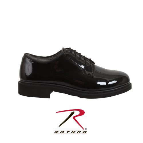 Rothco, Schuhe, Herren Uniform Oxfords High-Gloss, Black, 9, Regular von Black High Gloss Oxford